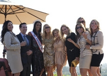 Ms. America 2011, Tracy Broughton with guests at the event.