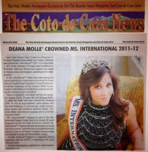 Ms. International 2011-12 - Deana Molle'