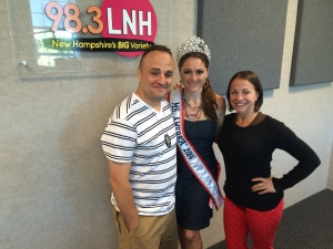 Ms America 2014-15 with 98.3FM morning show hosts Nazzy and Mya