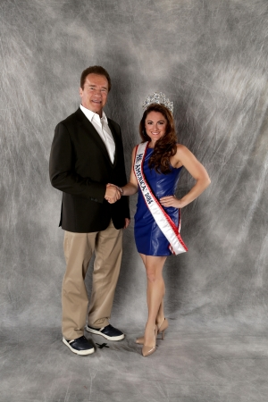 Ms. America 2014-15 with Arnold Schwartenegger