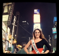 Ms. America in Times Square